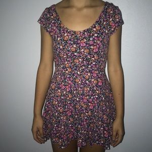 Urban Outfitters Floral Short sleeve Skater Dress